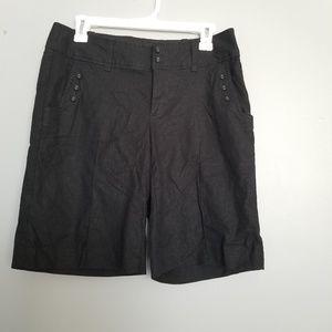 Banana republic stretch shorts women ,black size 8